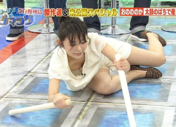 【放送事故エロ画像】芸能人の見えちゃいけないものがTVに映っちゃったwwwガチで見えた放送事故寸前のハプニング! その3