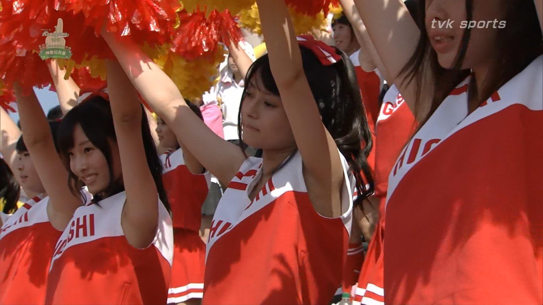 【甲子園チアガール】女子高生のワキ汗に興奮がとまらないwww夏の甲子園チアガール達のエロ画像 その5