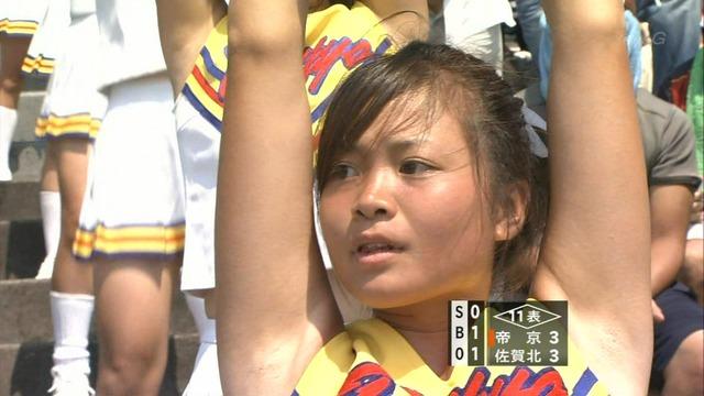 【甲子園チアガール】女子高生のワキ汗に興奮がとまらないwww夏の甲子園チアガール達のエロ画像 その9