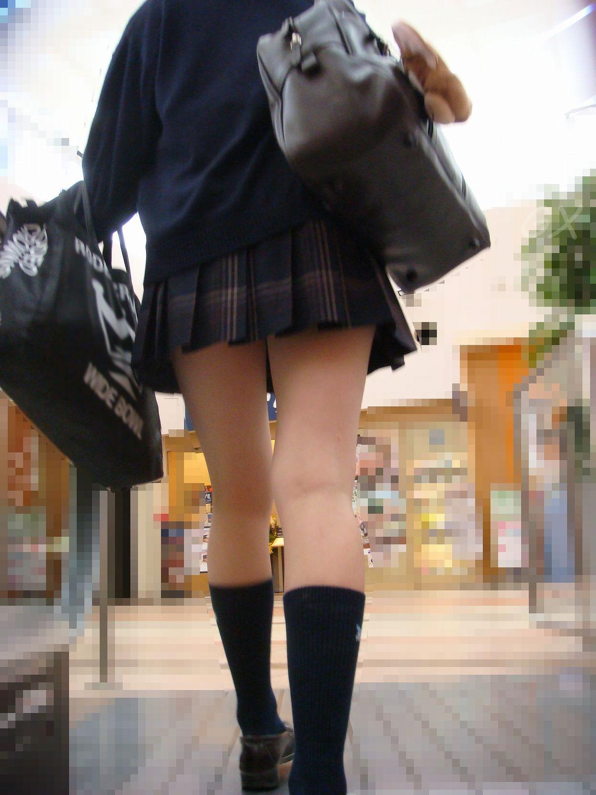 【街撮りJK】街撮りされた女子高生の健康的な太ももがやべぇ…不覚にも勃起してしまったwwww その7