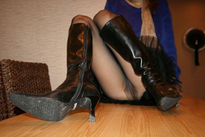 【ノーパン・パンスト】パンスト履いてるからこそ余計にエロい…透け具合が超卑猥なノーパン直履きパンスト その12